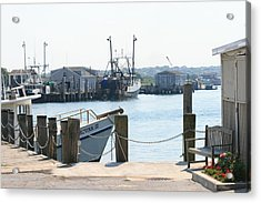 Montauk Harbor  Acrylic Print by Christopher Kirby