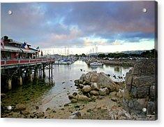 Monterey Harbor - Old Fishermans Wharf - California Acrylic Print by Brendan Reals