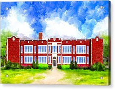 Montezuma School History Acrylic Print by Mark Tisdale