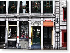 Montreal Shops Acrylic Print by John Rizzuto