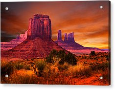 Monument Valley Sunset Acrylic Print by Harry Spitz