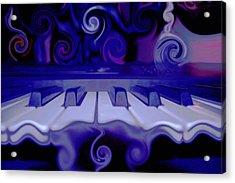 Moody Blues Acrylic Print by Linda Sannuti