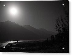 Moon Above Pyandzh Valley Acrylic Print by Konstantin Dikovsky