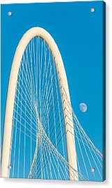 Moon At The Hunt Bridge Acrylic Print by Tod and Cynthia Grubbs