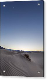Moon In The Desert Acrylic Print by Jon Glaser