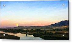 Moon Over Montana Acrylic Print by Susan Kinney