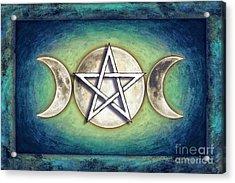 Moon Pentagram - Tripple Moon 2 Acrylic Print by Dirk Czarnota
