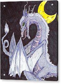 Moon Dragon Acrylic Print by Joshua Massenburg