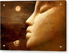 Moonface Acrylic Print by Jeff  Gettis