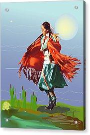 Moonlight Dance Acrylic Print by Kae Cheatham