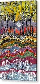 Moonlight Over Spring Acrylic Print by Carol  Law Conklin