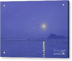 Moonlight Over Udaipur Acrylic Print by Derek Hare
