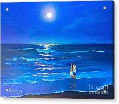 Moonlight Silence  Acrylic Print by Viktoriya Sirris