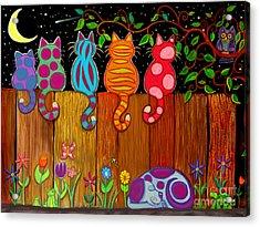 Moonlighting Together Acrylic Print by Nick Gustafson