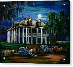 Moonlit Plantation Acrylic Print by Elaine Hodges