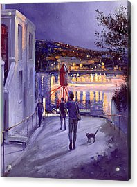 Moonlit Start Acrylic Print by Timothy Easton