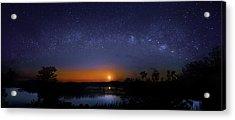 Moonrise At Milky Way Creek Acrylic Print by Mark Andrew Thomas
