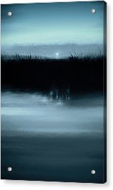 Moonrise On The Water Acrylic Print by Scott Norris