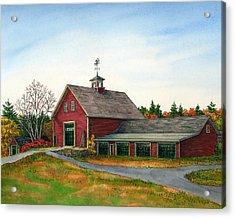 Moose Hill Barn Acrylic Print by Elaine Farmer