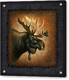 Moose Lodge Acrylic Print by JQ Licensing