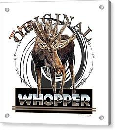 Moose Whooper Acrylic Print by Susan Kinney