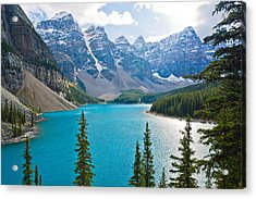Moraine Lake Acrylic Print by Adam Pender