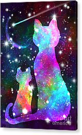 More Cosmic Cats Acrylic Print by Nick Gustafson