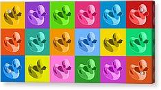 More Rubber Ducks Acrylic Print by Michael Tompsett