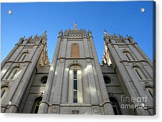 Mormon Temple Acrylic Print by David Lee Thompson