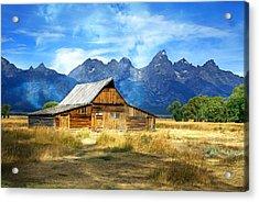 Morning At Moulton Barn Acrylic Print by Marty Koch