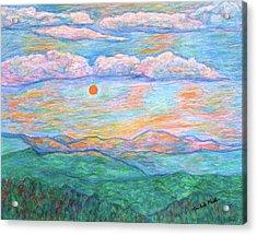 Morning Color Dance Acrylic Print by Kendall Kessler