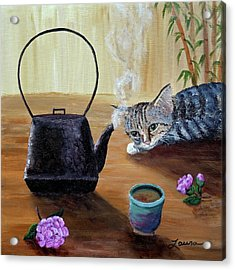 Morning Cup Of Tea Acrylic Print by Laura Iverson