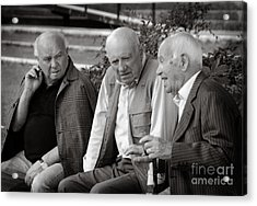 Morning Discussion Acrylic Print by Jim  Calarese