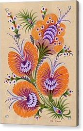Morning Flowers Acrylic Print by Olena Kulyk
