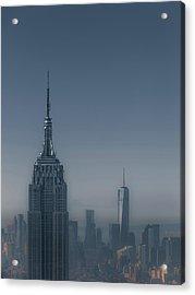 Morning In New York Acrylic Print by Chris Fletcher