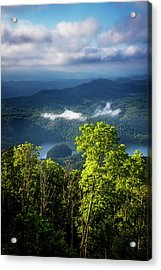 Morning In The Blue Ridge Mountains Acrylic Print by Debra and Dave Vanderlaan