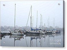 Morning In The Harbor Acrylic Print by Stefan Kuhn