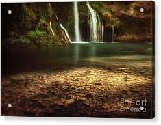 Morning Light At Dripping Springs Acrylic Print by Tamyra Ayles