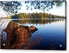 Morning On Chad Lake 2 Acrylic Print by Larry Ricker