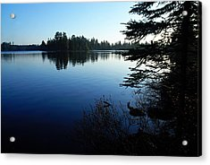 Morning On Chad Lake Acrylic Print by Larry Ricker