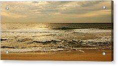 Morning On The Beach - Jersey Shore Acrylic Print by Angie Tirado