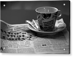 Morning Read Acrylic Print by Evelina Kremsdorf