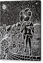 Morning Tea Enjoyment Acrylic Print by Natasha Junmanee