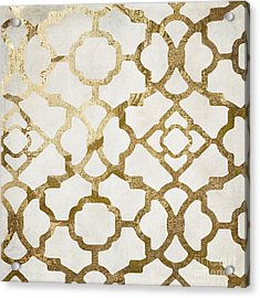 Moroccan Gold I Acrylic Print by Mindy Sommers