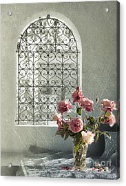 Moroccan Rose Acrylic Print by Linde Townsend