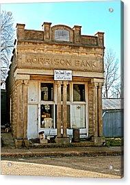 Morrison Bank Acrylic Print by Marty Koch