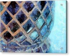 Mosaic Blues Acrylic Print by Krissy Katsimbras