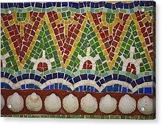 Mosaic Fountain Pattern Detail 4 Acrylic Print by Teresa Mucha