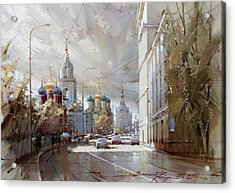 Moscow. Varvarka Street. Acrylic Print by Ramil Gappasov