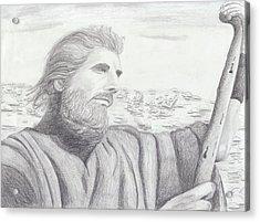 Moses Acrylic Print by M Valeriano